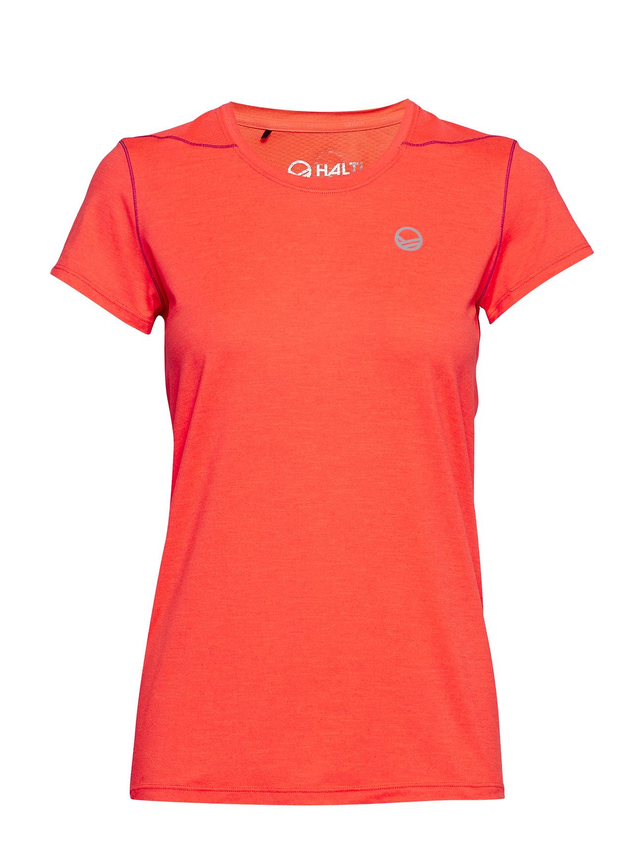 Halti Marjo W T-shirt - NEON FIERY CORAL MELANGE