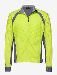 Halti - Keimi Men's Hybrid Jacket - insulated jackets - lime punch - 0
