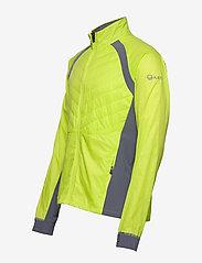 Halti - Keimi Men's Hybrid Jacket - insulated jackets - lime punch - 6