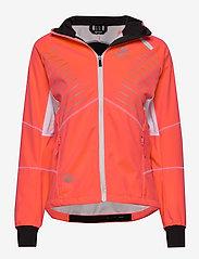 Halti - Kaarre W XCT jacket - softshell-jackor - neon fiery coral - 0