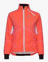 Halti - Kaarre W XCT jacket - softshell-jackor - neon fiery coral - 1