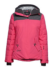 Kilta W DX warm ski jacket - FUCHSIA PURPLE