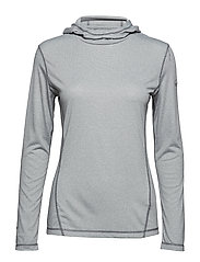 Viva W middlayer shirt - QUIET SHADE GREY MELANGE