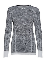 Free Seamless W LS shirt - ANTHRACITE GREY MELANGE