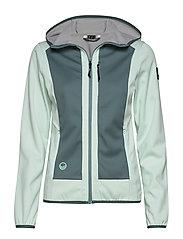Sointu W softshell jacket - BLEACHED AQUA MINT