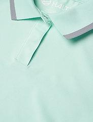 Halti - Seita W technical polo - poloshirts - bleached aqua mint - 2