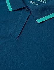 Halti - Seita W technical polo - poloshirts - blue opal - 2