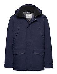 Luosto Men's Warm parka jacket - PEACOAT BLUE