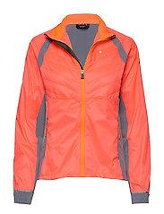 Keimi Women's Hybrid Jacket - NEON FIERY CORAL