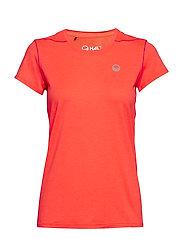 Marjo W T-shirt - NEON FIERY CORAL MELANGE