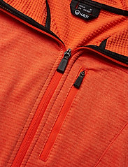 Halti - Puijo M Hoodie jacket - fleece midlayer - orange com melange - 2