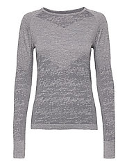 Free Recy Women's Seamless base layer shirt - FOLKSTONE GREY MELANGE