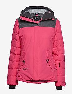 Kilta W DX warm ski jacket - FUCHSIA PURPLE