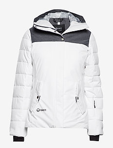 Kilta W DX warm ski jacket - WHITE