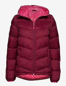 Halle W down jacket - dunjakker - plum purple