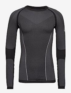 Nila M seamless base layer shirt - base layer tops - granite grey