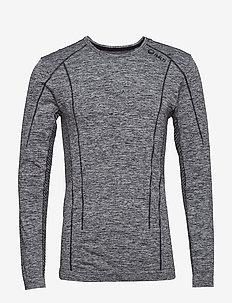 Free Seamless M LS shirt - ANTHRACITE GREY MELANGE