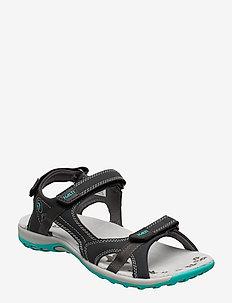 Isla Women's sandal - flat sandals - anthracite grey