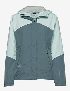 Caima Women's DX shell jacket - skaljackor - bleached aqua mint