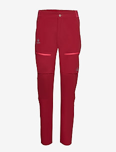 Pallas Women's X-stretch pants - softshell pants - rhubarb red