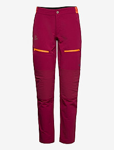 Pallas Women's Warm X-Stretch Pants - softshell pants - beet red
