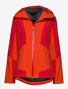 Vaara W Jacket - shell jackets - lava red