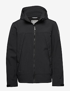 Veini Men's softshell jacket - softshell jackets - black