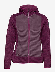 Rakka W Hoodie - mid layer jackets - magenta purple