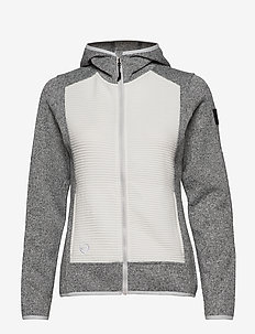 Rakka W Hoodie - mid layer jackets - nimbus cloud melange