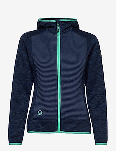 Rakka W Hoodie - mid layer jackets - peacoat blue melange