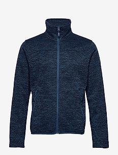 Ruoko M Jacket - mittlere lage aus fleece - blue opal melange