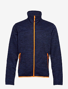 Ruoko M Jacket - fleece midlayer - peacoat blue melange