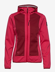 Sointu W softshell jacket - outdoor & rain jackets - azalea pink
