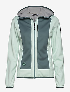 Sointu W softshell jacket - outdoor & rain jackets - bleached aqua mint