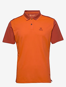 Salo M technical polo - koszulki polo - tangerine tango red