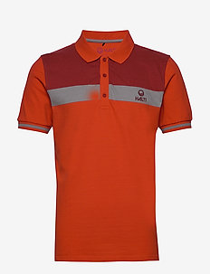 Kara M organic cotton polo - polo''s - tangerine tango red