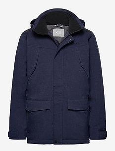 Luosto Men's Warm parka jacket - parkas - peacoat blue