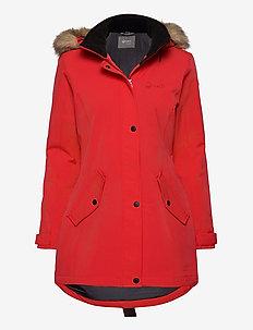 Luosto Women's parka jacket - parkaser - flame scarlet