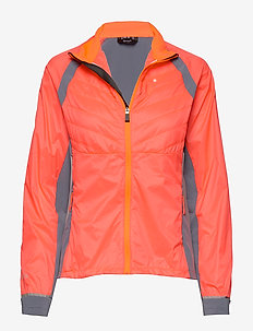 Keimi Women's Hybrid Jacket - insulated jackets - neon fiery coral