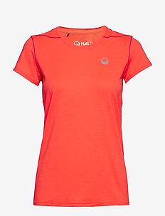Marjo W T-shirt - t-skjorter - neon fiery coral melange