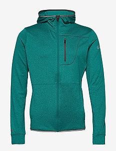 Puijo M Hoodie jacket - fleece midlayer - fanfare green melange