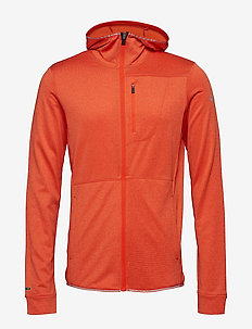 Puijo M Hoodie jacket - fleece midlayer - orange com melange