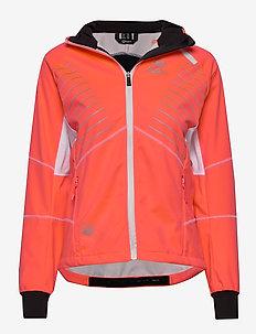 Kaarre W XCT jacket - softshell-jackor - neon fiery coral