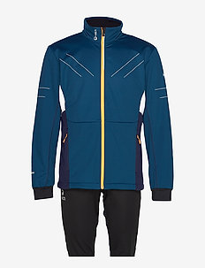 Murto M XCT softshell set - softshell jackets - blue opal