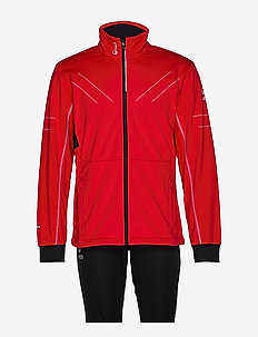 Murto M XCT softshell set - softshell jackets - lava red