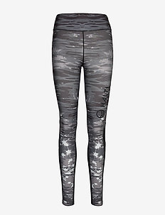 Loiste W training Tights - juoksu- & treenitrikoot - black print