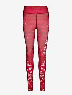 Loiste W training Tights - RHUBARB RED PRINT