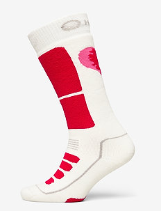 Women's Heart Sock - socks - lava red