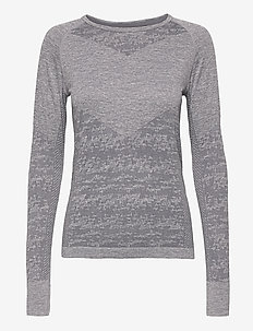 Free Recy Women's Seamless base layer shirt - termo undertrøje - folkstone grey melange