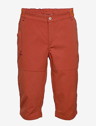 Vuokatti M Capri pants - outdoor shorts - ketchup red